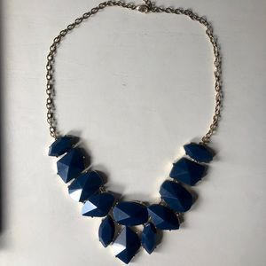 BaubleBar blue statement necklace